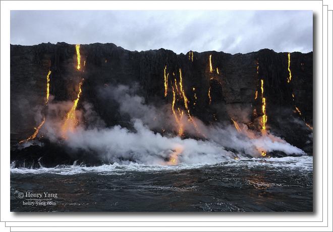 Lava Entering Ocean, Hawai'i Volcanoes National Park, Big Island, Hawaii, 8/2016