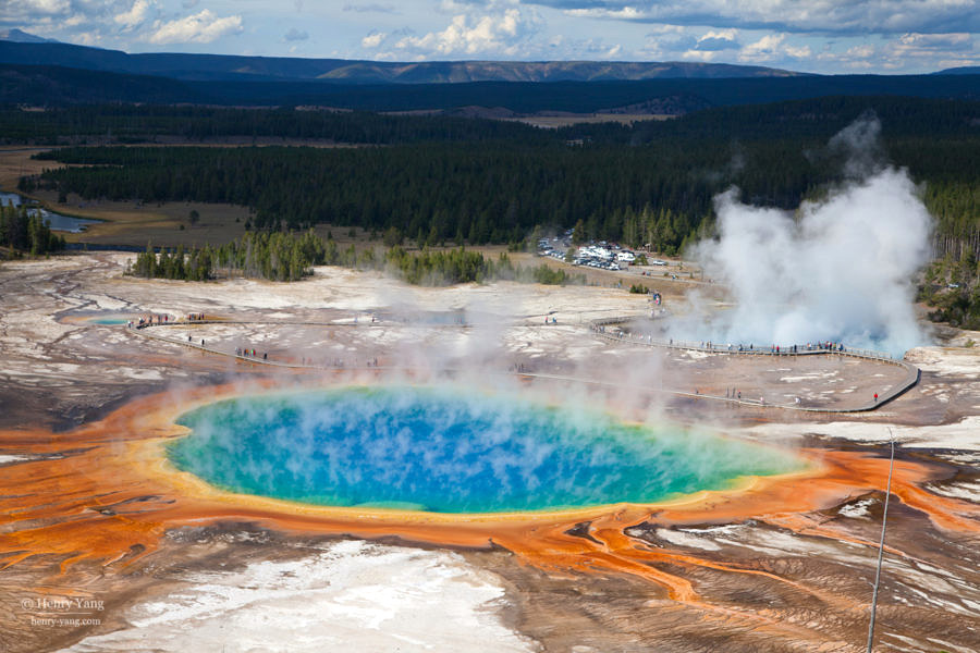 Grand Prismatic Spring, Yellowstone National Park, Wyoming, 9/2012