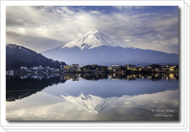Mount Fuji, Lake Kawaguchiko, Japan, 3/2016