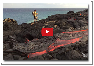 Videos: Lava Entering Ocean, Hawai'i Volcanoes National Park, Big Island, Hawaii, 8/2016