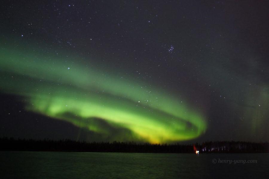 Aurora at Chena Lake, Fairbanks, Alaska, 10/2016