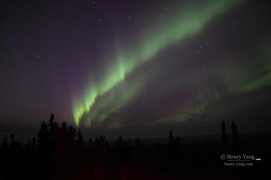 Aurora at Cleary Summit, Fairbanks, Alaska, 9/2016