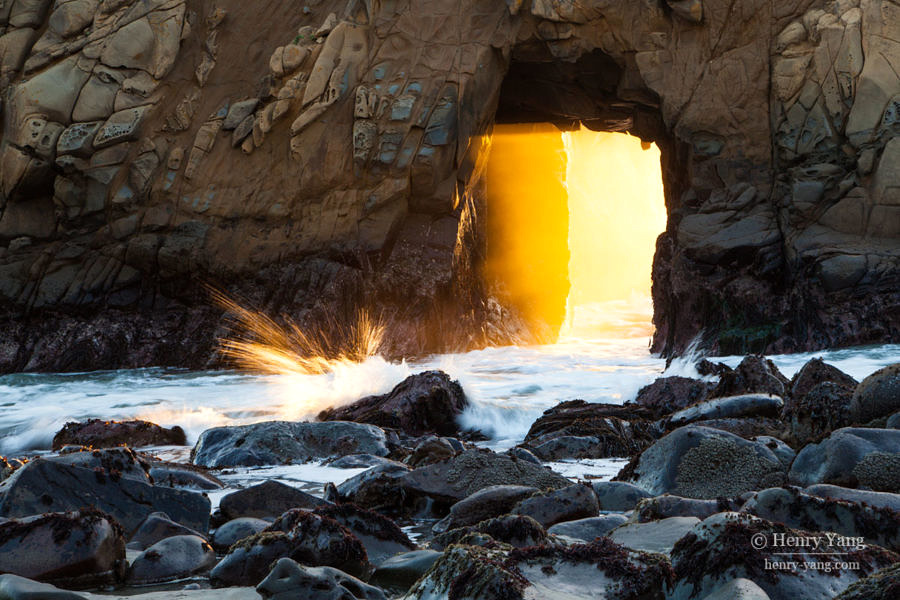 Keyhole Arch at Pfeiffer Beach, Big Sur, California, 12/2016
