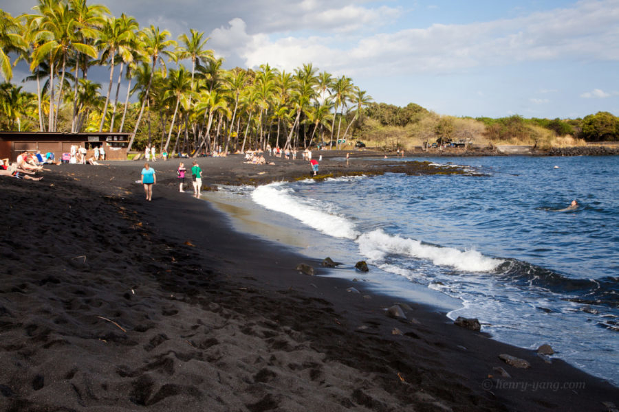 Punalu'u Black Sand Beach, Big Island, Hawaii, 1/2015