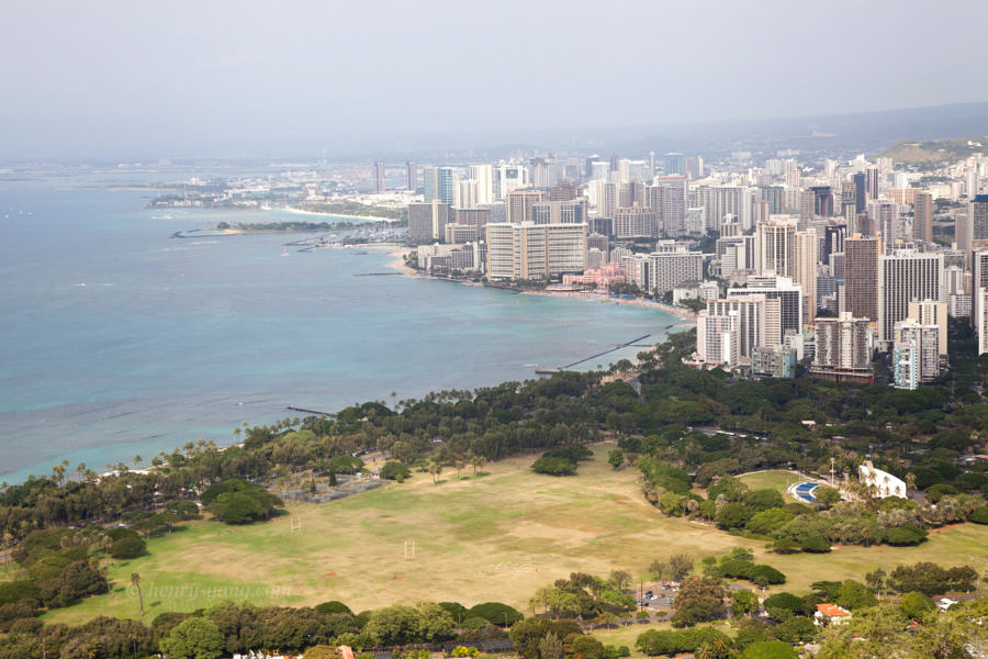 Honolulu View from Diamond Head, Oahu, Hawaii, 12/2014