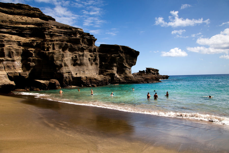 Green Sand Beach, Big Island, Hawaii, 1/2015