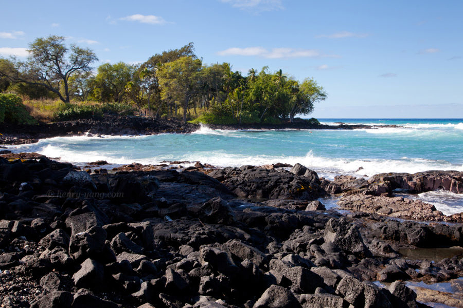 Coast of Kailua-Kona, Big Island, Hawaii, 1/2015