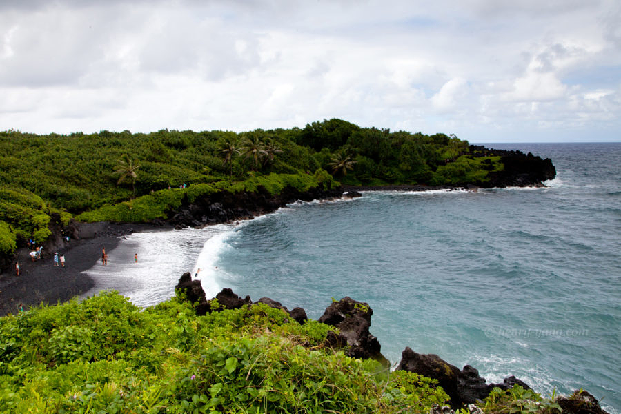 Black Sand Beach, Waianapanapa State Park, Road to Hana, Maui, Hawaii, 8/2016