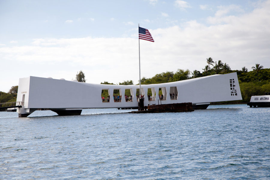 USS Arizona Memorial, Pearl Harbor, Oahu, Hawaii, 12/2014