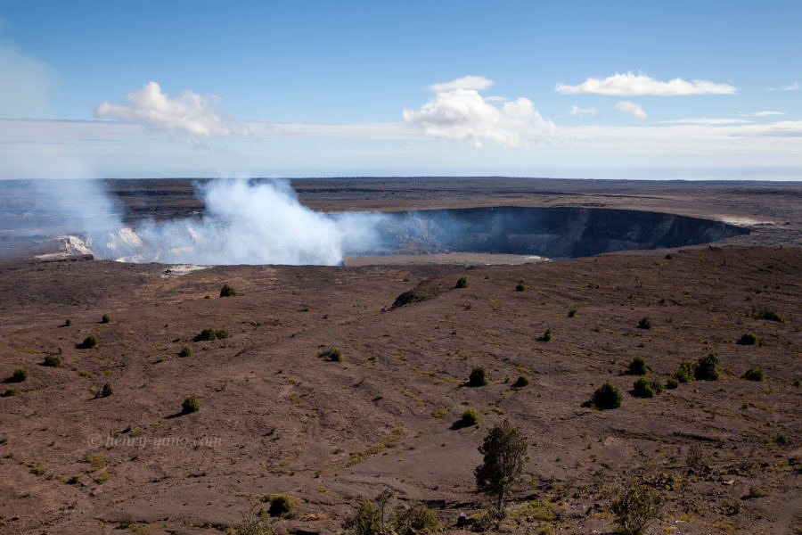 Halema'uma'u Crater, Hawai'i Volcanoes National Park, Hawaii Island, 1/2015
