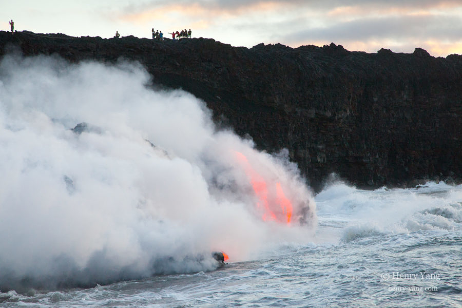 Lava Entering Ocean, Hawai'i Volcanoes National Park, Big Island, Hawaii, 8/2016
