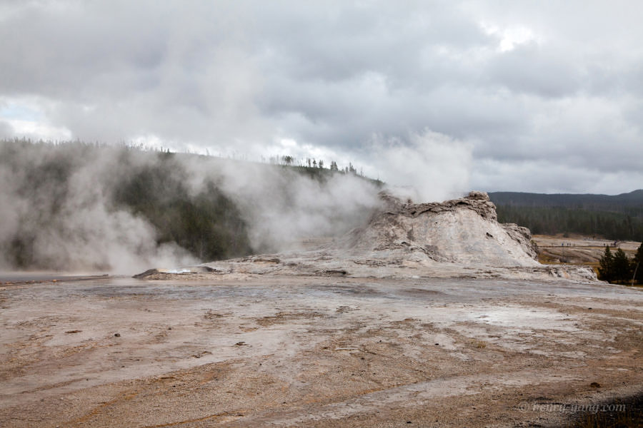 Castle Geyser, Yellowstone National Park, Wyoming, 9/2012