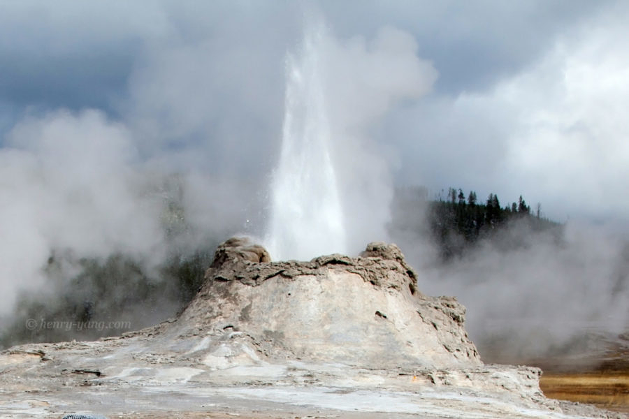 Castle Geyser, Yellowstone National Park, Wyoming, 9/2013