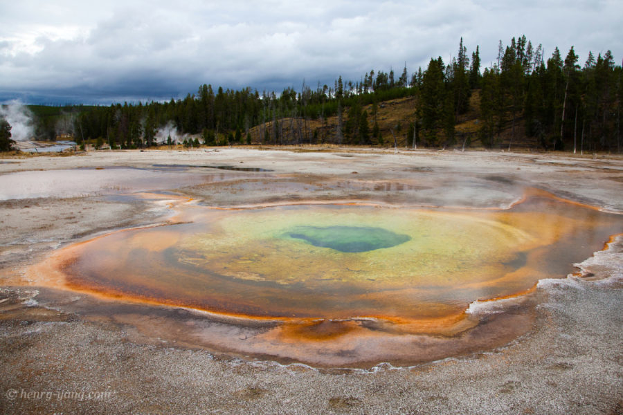 Chromatic Spring, Yellowstone National Park, Wyoming, 9/2012