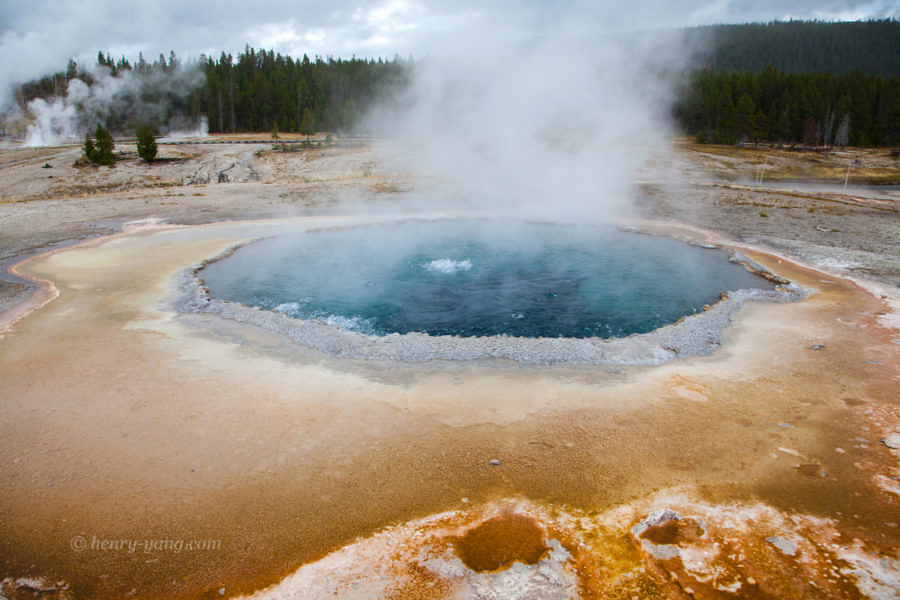 Crested Pool, Yellowstone National Park, Wyoming, 9/2012