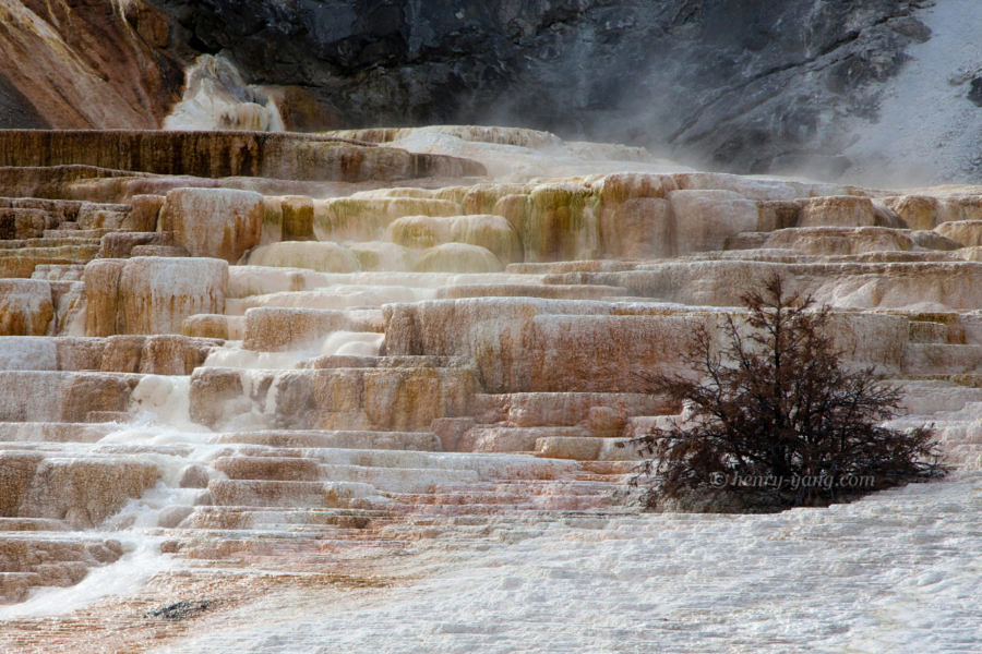 Jupiter Terrace, Mammoth Hot Springs, Yellowstone National Park, Wyoming, 9/2012