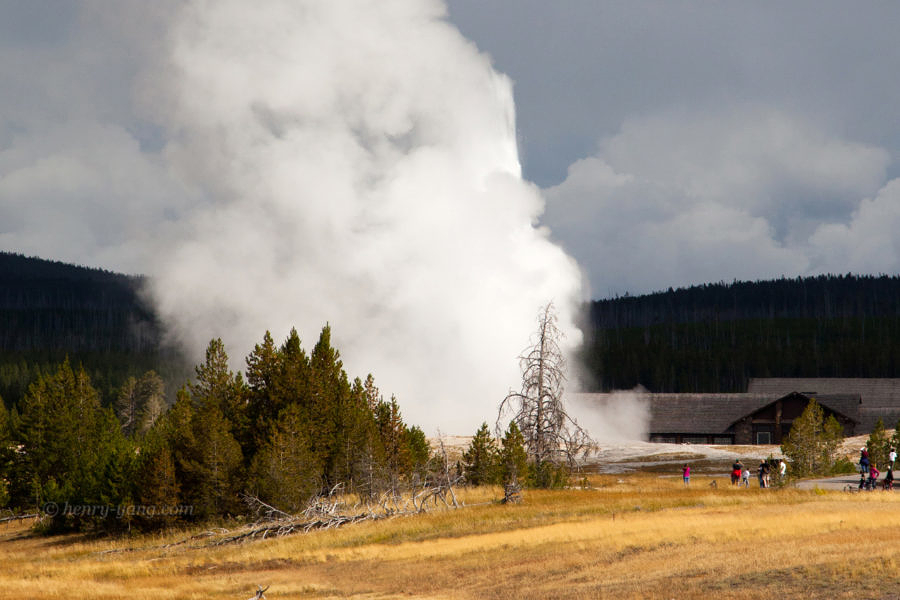 Old Faithful Geyser, Yellowstone National Park, Wyoming, 9/2012