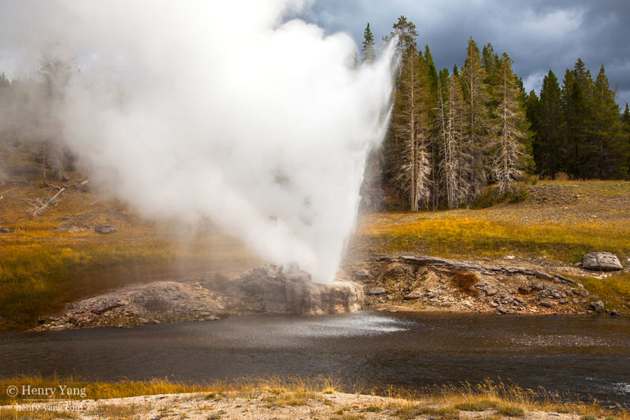 Riverside Geyser, Yellowstone National Park, Wyoming, 9/2012