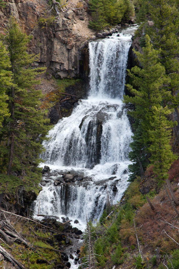 Undine Falls, Yellowstone National Park, Wyoming, 9/2012
