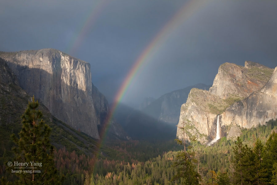 Tunnel View Double Rainbow, Yosemite National Park, California, 5/2016
