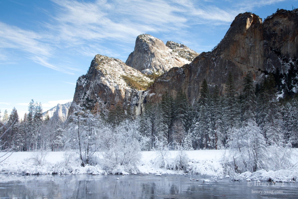 winter scenes yosemite national park california henry. Black Bedroom Furniture Sets. Home Design Ideas
