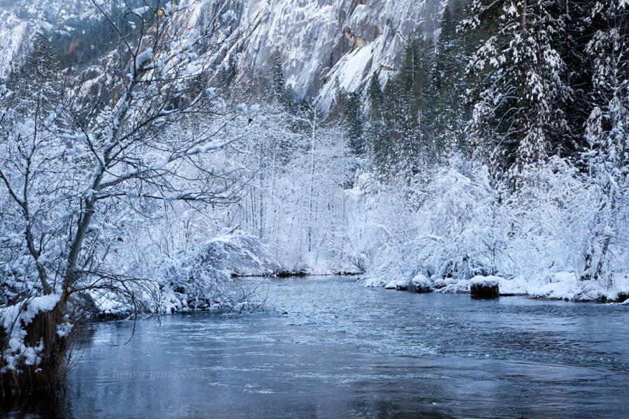 Merced River Winter,, Yosemite National Park, California, 12/2015