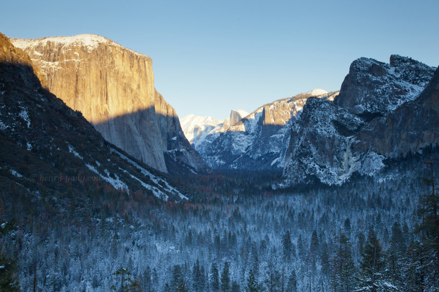 Tunnel View Winter, Yosemite National Park, California, 12/2015