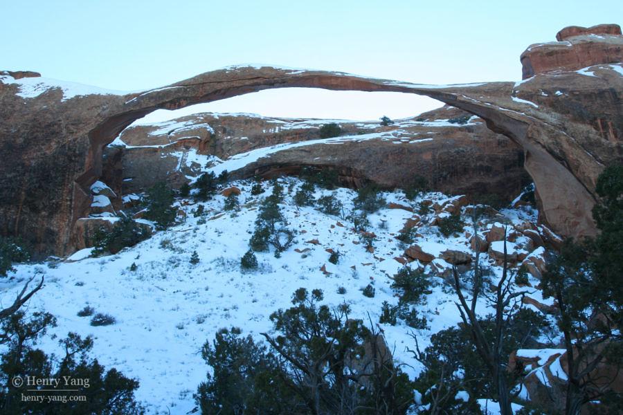 Landscape Arch, Arches National Park, Utah, 2/2008