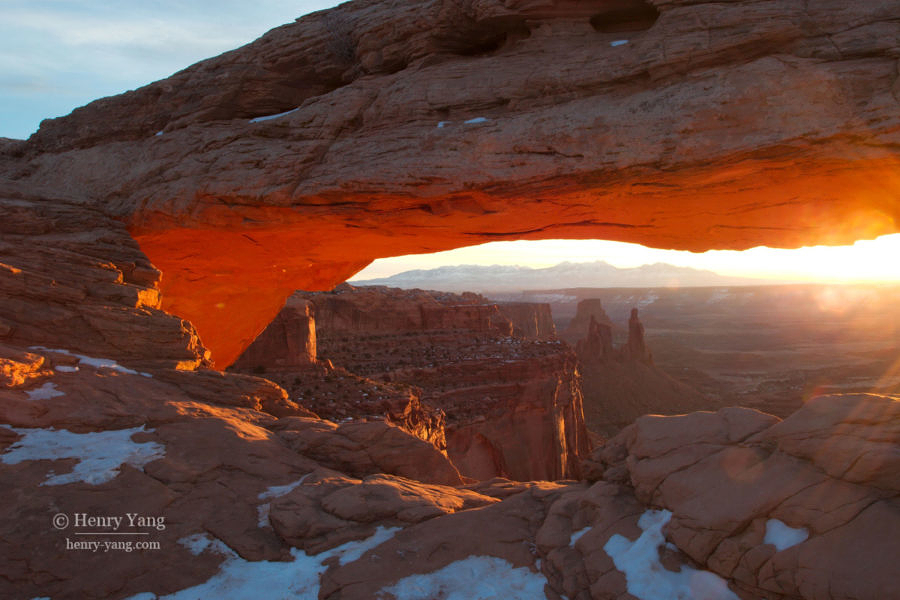 Mesa Arch Sunrise, Canyonland National Park, Utah, 2/2008
