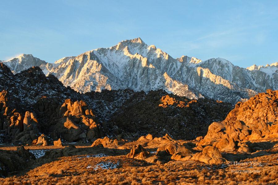 Lone Pine Peak and Alabama Hills, Eastern Sierra, California, 12/2008