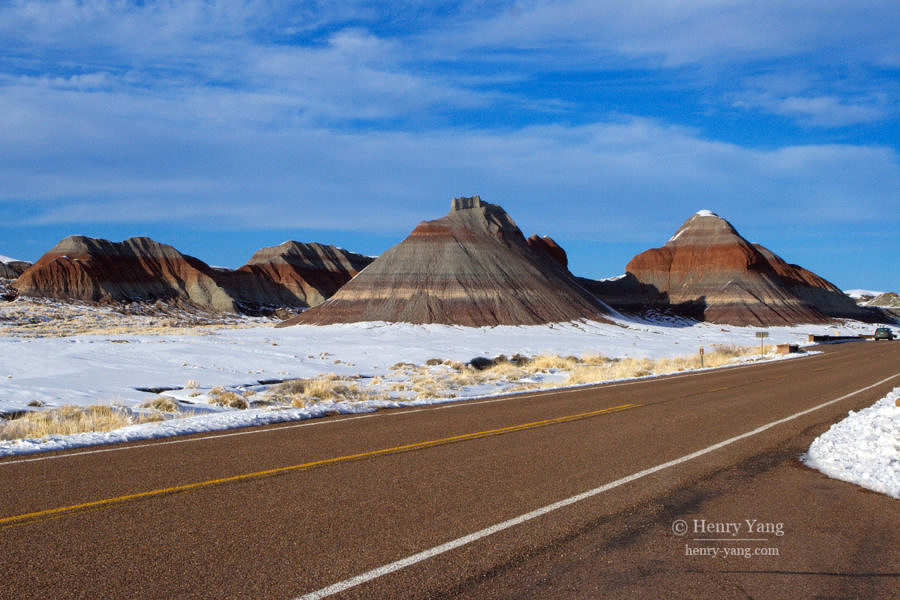 Tepees, Petrified Forest National Park, Arizona, 2/2008