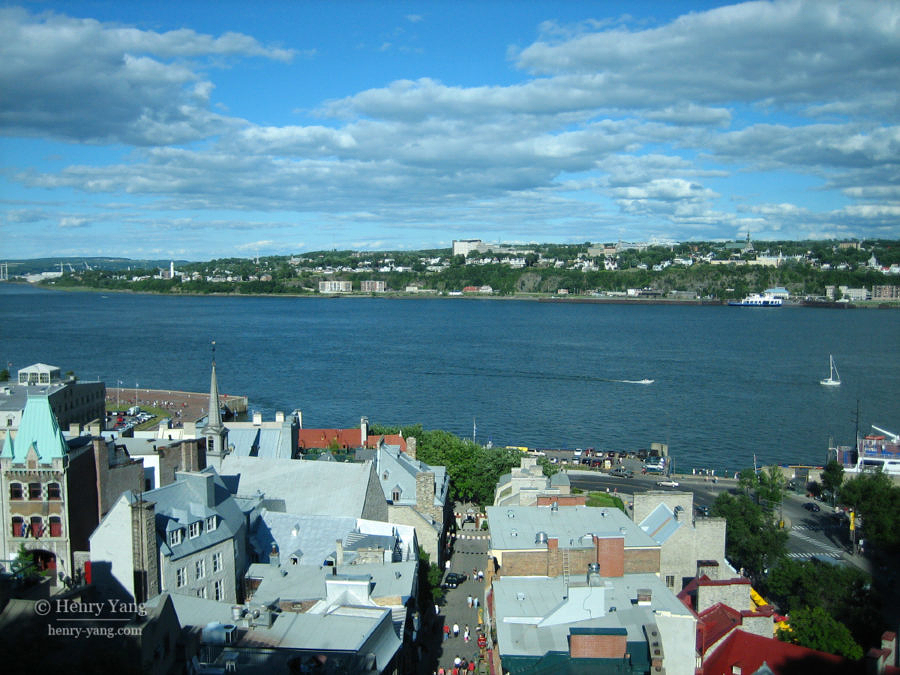 St. Lawrence River and Lower Town, Quebec City, Quebec, Canada, 7/2005