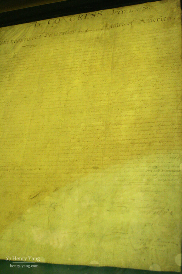 Declaration of Independence, Washington DC, 5/2006