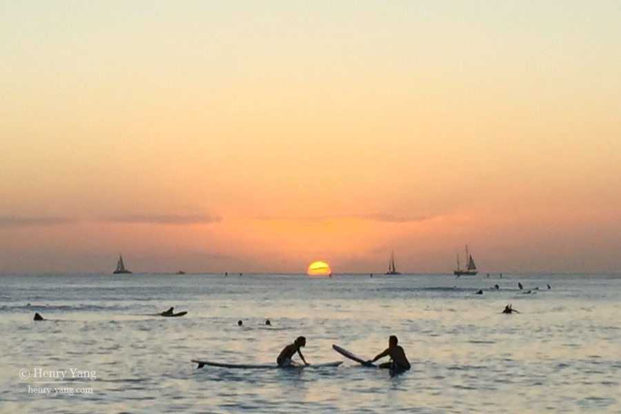 Waikiki Beach, Oahu, Hawaii, 12/2014