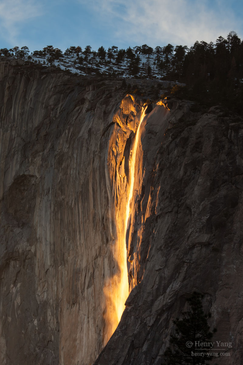 Horsetail Fall (Fire Fall), Yosemite National Park ...
